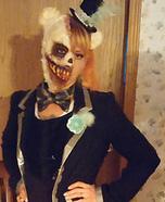 Half Evil Teddy Bear Half Dark Ringmaster Homemade Costume