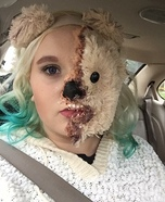 Half Teddy Bear half Human Homemade Costume