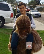 Han Solo Riding Chewbacca Homemade Costume