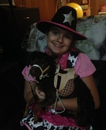 Happy Cow Girl and her Mini Pony Homemade Costume
