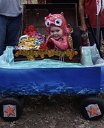 Happy lil Octopus in Treasure Chest Homemade Costume