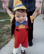 Homemade Pinocchio costume