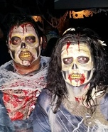 Happy Zombie Couple Homemade Costume