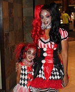 Harlequin Girls Homemade Costume