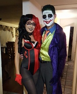 Harley Quinn and Mr. J Homemade Costume
