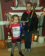 Harley Quinn and Negan Homemade Costume