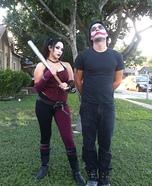 Harley Quinn and the Joker Homemade Costume