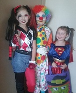 Harley Quinn, Clown and Supergirl Costumes