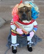 Harley Quinn Dog Homemade Costume