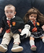 Harry Potter and Hermione Twins Homemade Costume