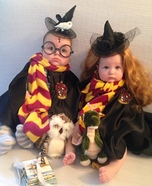 Harry Potter & Hermione Baby Homemade Costumes