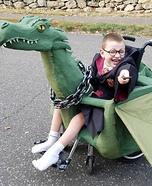 Harry Potter Riding a Dragon Homemade Costume