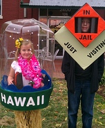 Hawaii Snow Globe and Monopoly in Jail Costume