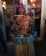 Hawaiian Snow Globe Homemade Costume