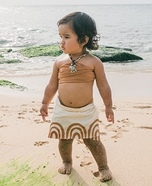Hawaii's Baby Moana Homemade Costume