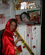 Head in Freezer Homemade Costume