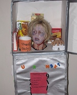 Frozen Head in Refrigerator Homemade Costume