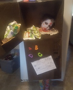 Head in the Freezer Homemade Costume