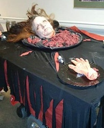 Head on a Platter Homemade Costume