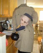 Headless Bald Guy Homemade Costume
