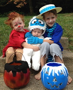 Heat Miser, Snow Miser and Bumble Snow Monster Costume