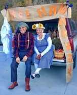 Hee Haw's Grandpa Jones and Minnie Pearl Homemade Costume