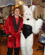 Hugh Hefner and Playboy Bunny Couple Costume