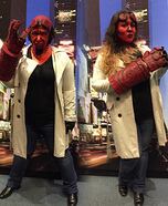 Hellgirl and Hellboy Homemade Costume
