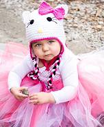 Homemade Hello Kitty Costume