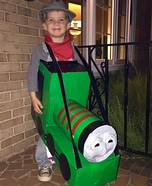 DIY baby costume ideas: Henry the Train Engine with Engineer Costume