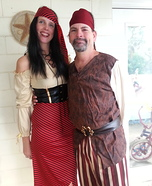 High Seas Pirate & her Buccaneer Homemade Costume
