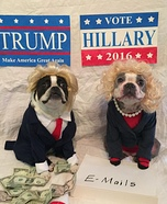 Hillary and Trump Dogs Homemade Costume