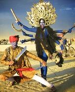 Hindu Goddess Kali & God Shiva Homemade Costumes