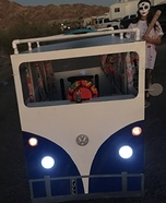 Hippie in a Bus Homemade Costume