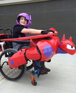 Hiro riding Baymax Homemade Costume