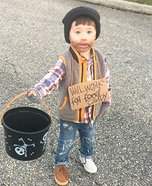 Hobo - Will Work for Candy Baby Homemade Costume