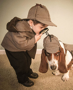 Costume ideas for pets and their owners: Holmes and Watson Halloween Costume