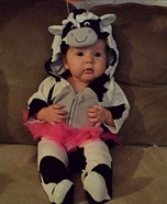 Holstein Cow Baby Homemade Costume