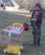 Homeless Man Homemade Costume