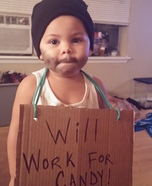 Homeless Man Baby Homemade Costume