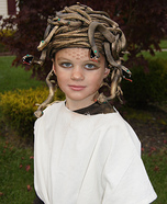 Homemade Medusa Gorgon Costume