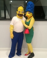 Homer and Marge Simpson Homemade Costume