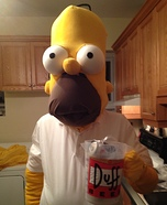 Homemade Homer Simpson Costume