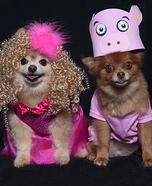 Creative costume ideas for dogs: Honey Boo Boo and Glitzy Dog Halloween Costumes