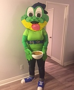 Honey Smacks Dig 'Em Frog Homemade Costume