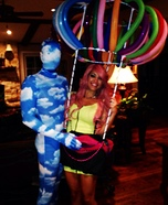 Hot Air Balloon and Blue Sky Couples Costume