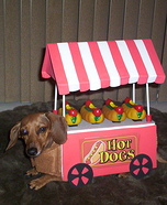 Creative costume ideas for dogs: Hot Dog Cart Costume