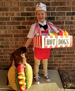 Hot DOG Vendor Homemade Costume