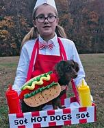 Hot Dog Vendor Homemade Costume