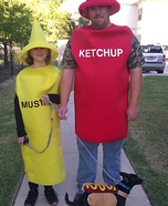 Hot Dog with Ketchup and Mustard Homemade Costume